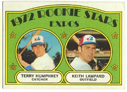 1972 Topps Baseball Cards      489     Terry Humphrey RC/Keith Lampard